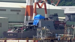 長崎で建造中の海上自衛隊の25DD型護衛艦 JMSDF 25DD class destroyer under construction at Nagasaki
