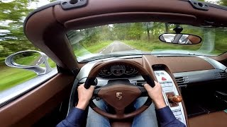 POV Drive: Porsche Carrera GT w/ Straight Pipes!