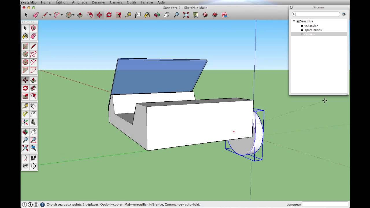 Sketchup premiers outils youtube for Outil miroir sketchup