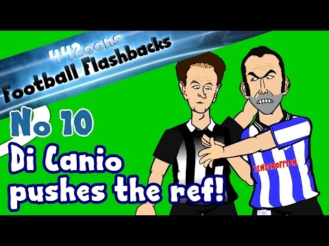 Paolo Di Canio pushes the ref! Football Flashback No10 (Paul Alcock Parody funny cartoon)