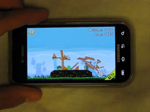 Video review of Angry Birds Lite for Android
