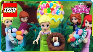 ♥ LEGO Disney Princess EASTER EGG HUNT Stop Motion (Frozen Elsa, Anna, Cinderella, Ariel & Merida)