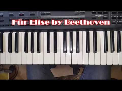 Beethoven Für Elise Easy Piano Tutorial - How to Play Fur Elise #1