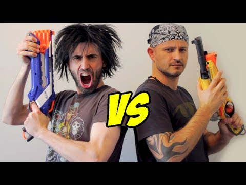Nerf War: Shotgun Vs Shotgun! video