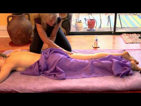 Full Body Massage, How to Drape Technique, Massage Therapy Demonstration Athena Jezik