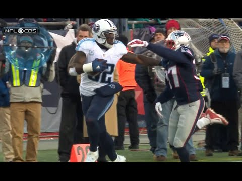 Delanie Walker 57 yard TD reception vs Patriots with Mike keith