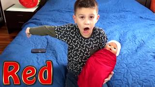 Lika and Marik play with funny dolls Are you sleeping Brother John song with Joy joy Lika