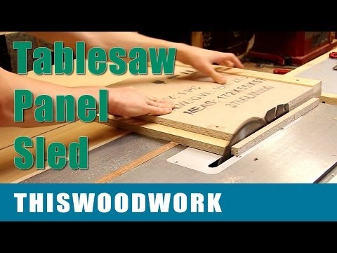 Build a Tablesaw Crosscut Sled: Panel Sled