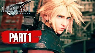FINAL FANTASY 7 REMAKE All Cutscenes (PART 1) Game Movie 1080p 60FPS
