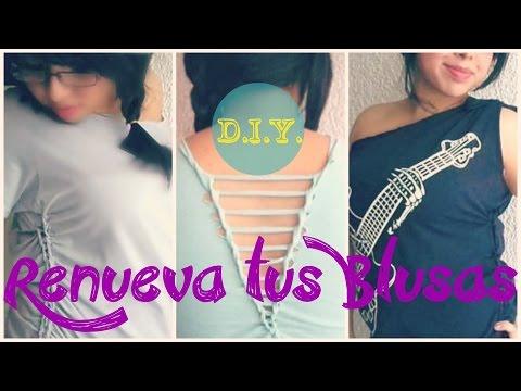 ¡3 ideas para renovar tus blusas! (D.I.Y.) - Blooudland :)