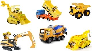 Best Learning Colors Video for Children with Paw Patrol and Construction Vehicles Bulldozers
