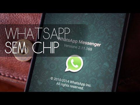 Como Ter WhatsApp Sem Número Ou Sem Chip No Tablet Ou Smartphone - 2017