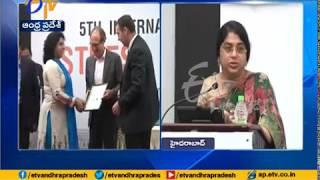 International Conference on Stress Management at Hyderabad | Margadarsi MD Sailaja Kiron Attends