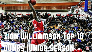 Zion Williamson Top 10 Dunks Junior Season
