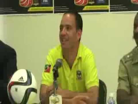 SKNFA Press Conference St. Kitts Nevis Sugar Boys vs. El Salvador - World Cup Qualifiers