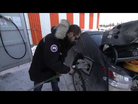 Toyota Hydrogen Electric Fuel Cell Vehicle Cold Weather Test -20 Centigrade