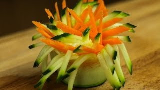 How To Make Pinwheel Vegetable Garnish