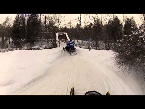 Snowmobiling 2013 in Baldwin Michigan
