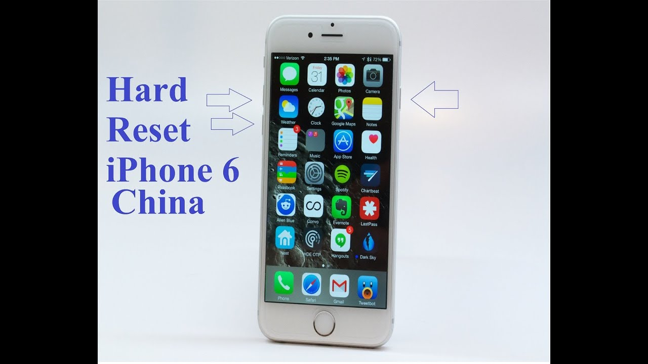 Hard reset iphone 6s китай википедия