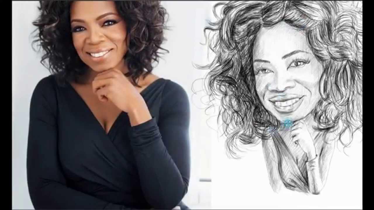 [Oprah Winfrey pencil caricature] Video
