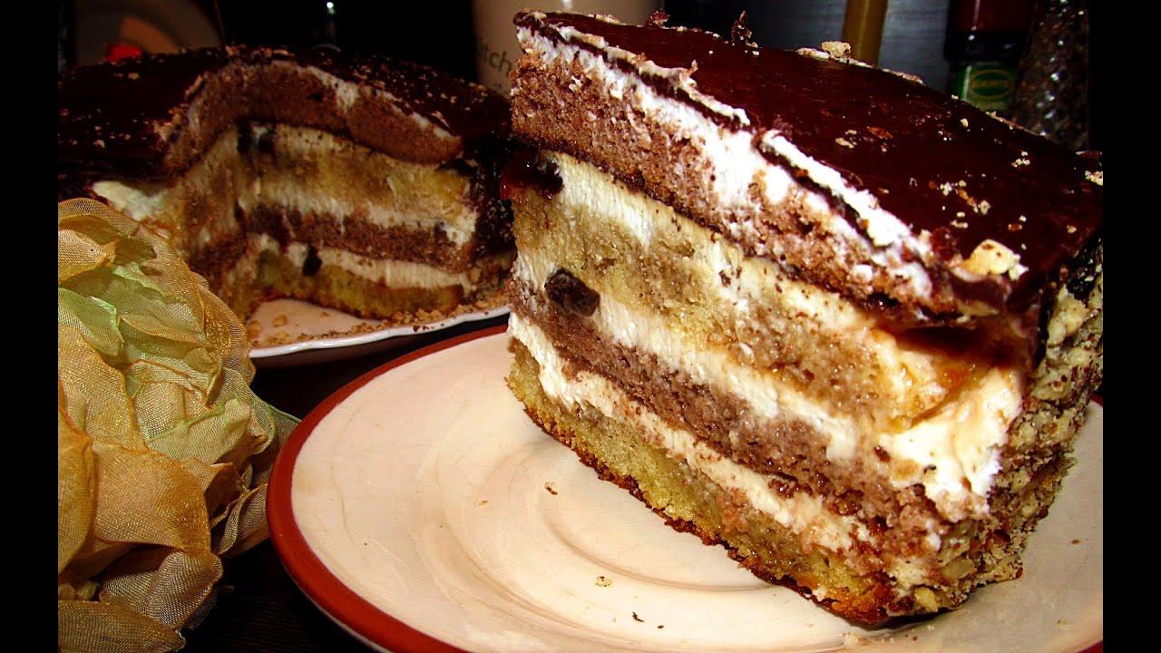 Торт сметанный рецепт с пошаговыми фото