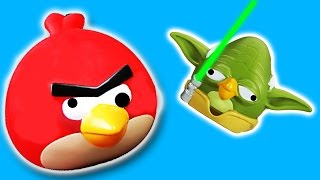 EPIC Angry Birds Star wars game toys & surprise eggs from the iPhone-Android App!