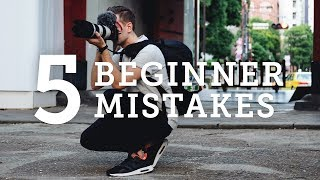5 BEGINNER PHOTOGRAPHY MISTAKES + How to Solve Them!