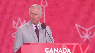 Mesdames et Messieurs: Prince Charles gives speech in French
