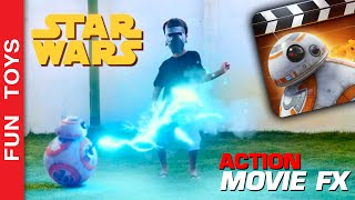 Star Wars - Action Movie FX App - How to create your own Star Wars scenes - DIY Toys Juguestes BB-8