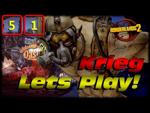 Borderlands 2 Krieg Lets Play Ep 51! Krieg vs Saturn & Hyperion Hawks Riding Surveyors!