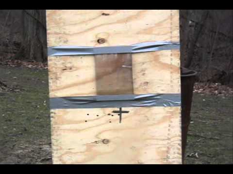 Ranger 45 Big Bore Air Rifle shooting at Bullet Proof Plastic