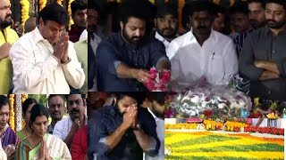 Balakrishna, Jr NTR And Kalyan Ram Pays Tribute To Sr NTR At NTR Ghat | Hyderabad  News