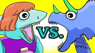 """My Cute Shark Attack Cartoon #19 (Super Hero Shark vs. Dino DRAGON!! +BEST OF!!) kids cartoons!"