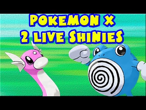 Two Live Shinies one video Funny Reaction! Pokemon X and Y (Shiny Poliwhirl and Shiny Dratini)