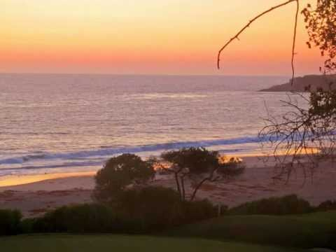 Monarch Bay Links next to the Pacific Ocean in California at Sunset