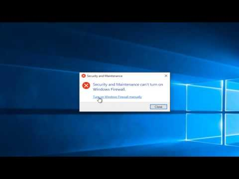 Windows 7/8/10: Windows Firewall Won't Turn On - Quick Fix