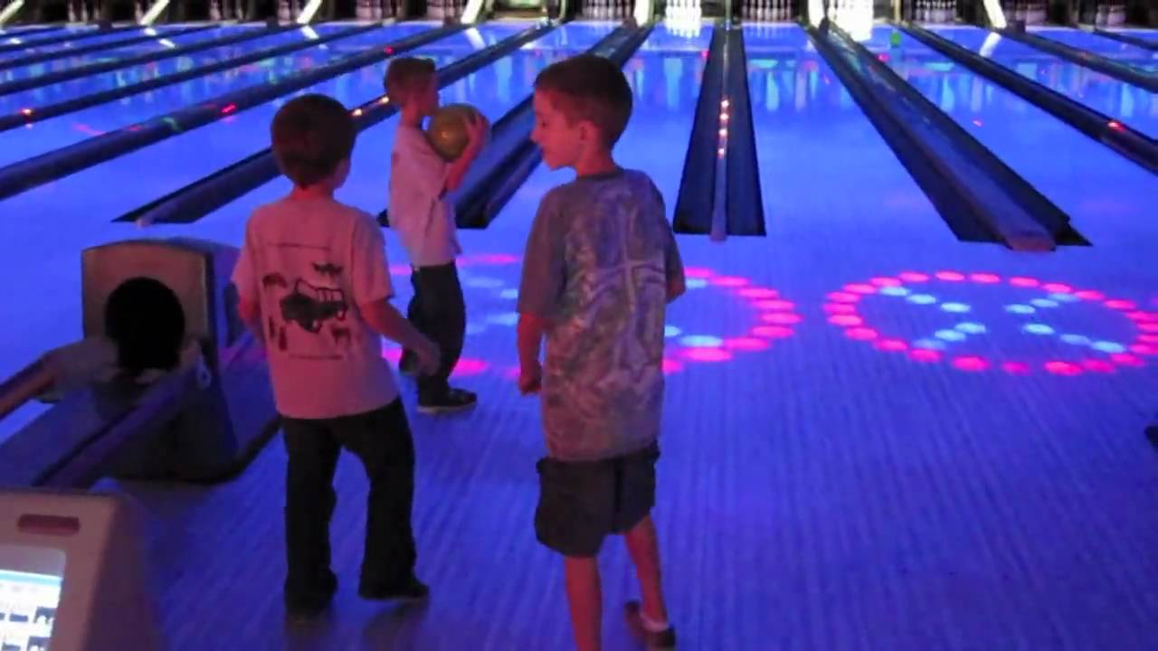 cosmic bowling video
