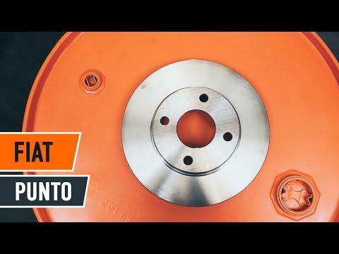 Wie FIAT PUNTO 188 Bremsscheiben vorne und Bremsbeläge wechseln TUTORIAL | AUTODOC