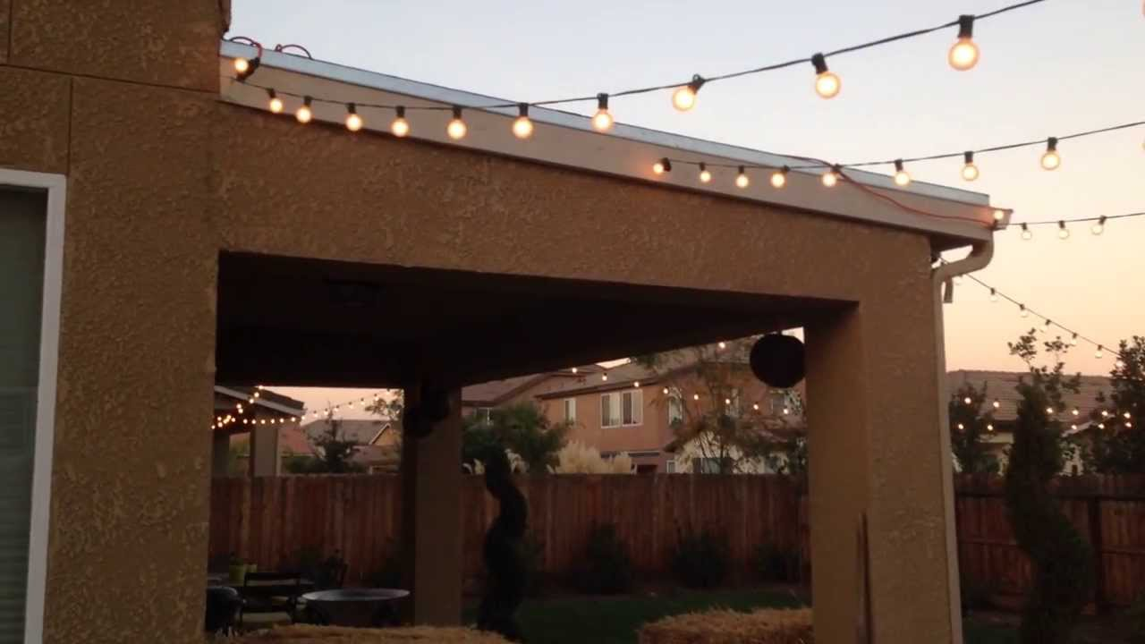 Homemade Out Door Lighting Patio Lighting Youtube