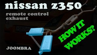 Nissan Z350 remote control exhaust system (how it works)