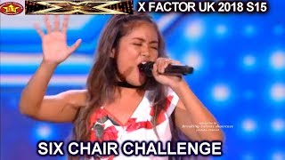 First Six Chairs Girls Laroco Burgess Francisco Kleo Darby Lily Six Chair Challenge X Factor UK 2018