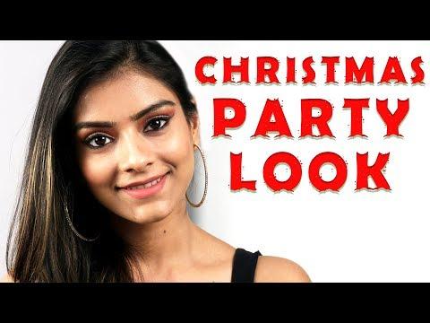 Christmas Party Look | Christmas Makeup 2017 | Christmas Eve Makeup | Makeup Tutorial | Foxy Makeup