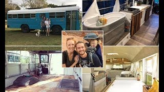 Couple sell their home to buy £3,000 school bus and travel the US - Daily News