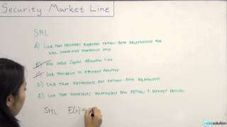 Intro to Finance: What's Security Market Line (SML)