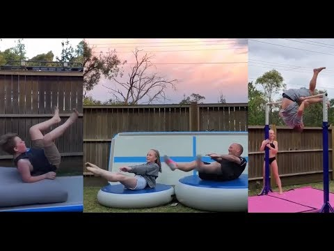 DAUGHTER vs DAD Gymnastics Challenge 2019 - Funny Fails Compilation