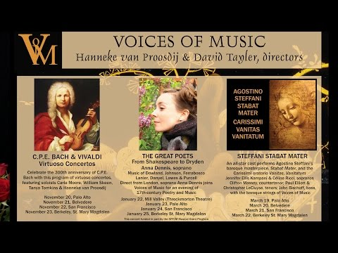 Voices of Music Concert Season 2014-2015, world-class Early Music performance