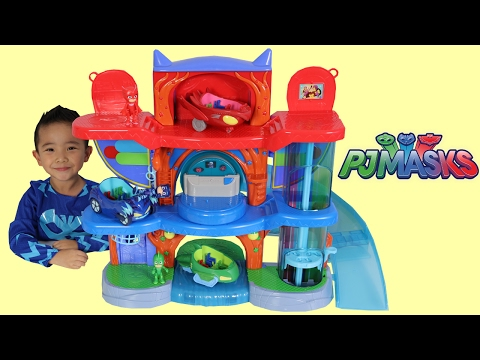 PJ Masks Headquarters Playset Toys Unboxing And Playing With Catboy Gekko Owlette Ckn Toys thumbnail