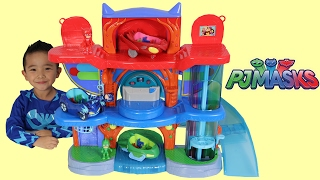 PJ Masks Headquarters Playset Toys Unboxing And Playing With Catboy Gekko Owlette Ckn Toys
