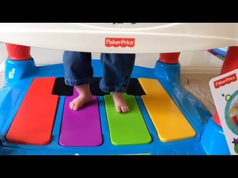 Fisher-Price Little Superstar Step 'n Play Piano Walker Review - YouTube
