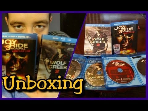 Unboxing WOLF CREEK 2 & JOY RIDE 3 Blu-Ray/DvD en Español